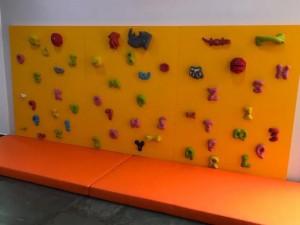 Parede de escalada: um sucesso entre as crianças!