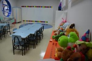 Sala de aula após a reforma