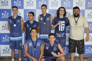Equipe juvenil de vôlei: vice-campeã